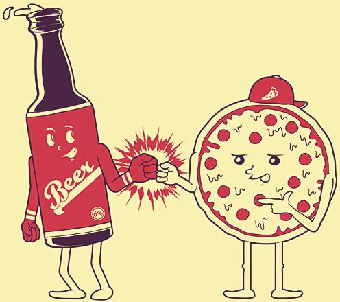Pizza a la biere
